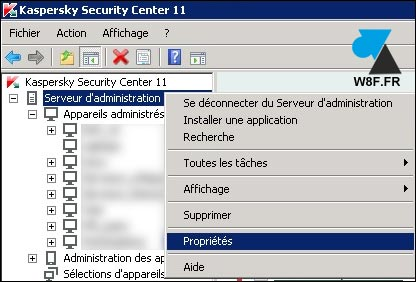 tutoriel proxy internet Kaspersky Security Center KSC KES KAV