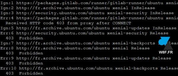 tutoriel Ubuntu erreur 403 apt update