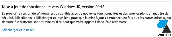 tutoriel Windows Update Windows 10 2009 20h2