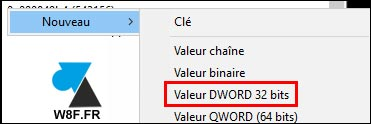 tutoriel regedit DWORD Windows Live Mail