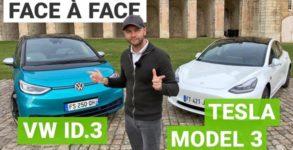 tesla model 3 vs vw id3