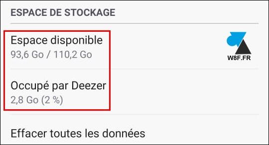 tutoriel deezer espace stockage