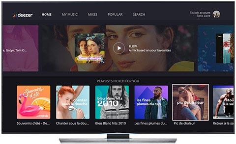 Deezer TV Samsung app AndroidTV