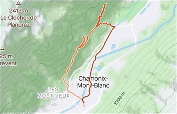 strava timemap chamonix
