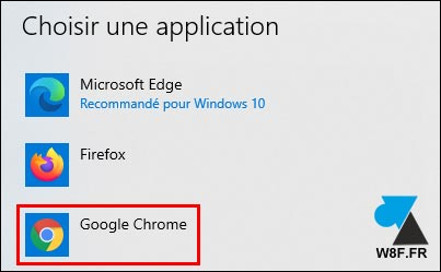 tutoriel Windows 10 Google Chrome navigateur par défaut