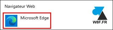 tutoriel Windows 10 Microsoft Edge navigateur par défaut