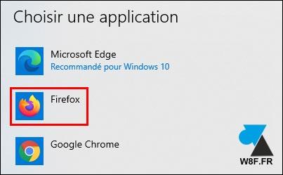 tutoriel Windows 10 Mozilla Firefox navigateur par défaut