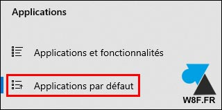 tutoriel Windows 10 Paramètres Applications par défaut