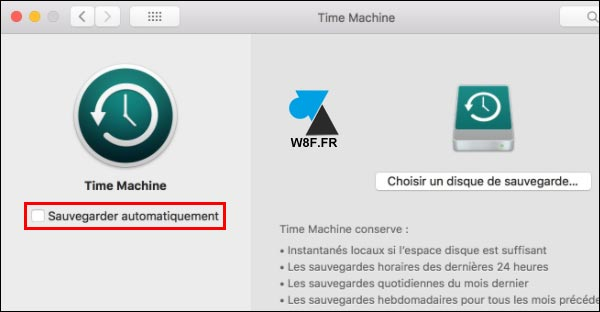 Apple Time Machine activer tutoriel