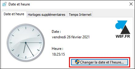 tutoriel changer la date et heure Windows