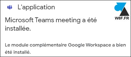 tutoriel installer module Microsoft Teams Google Agenda