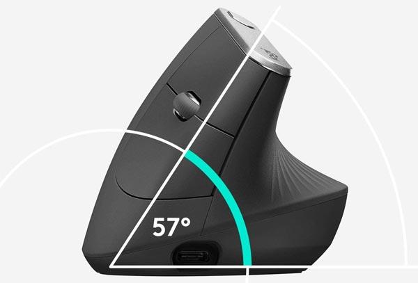 souris ergonomique 57 degrés