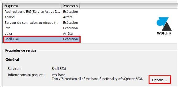 tutoriel VMware activer ESXi Shell
