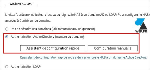 tutoriel NAS QNAP joindre Active Directory AD