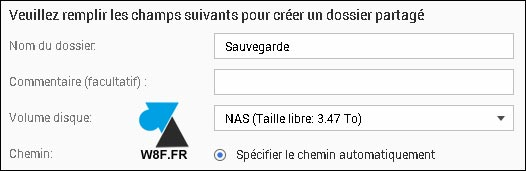 tutoriel NAS QNAP partage volume