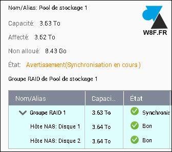 tutoriel NAS QNAP volume synchronisation RAID