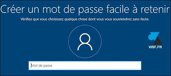 tutoriel configurer compte local Windows 10 mot de passe