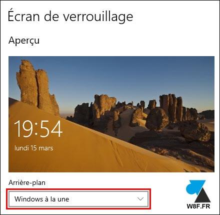 tutoriel Windows 10 parametres ecran verrouillage Windows à la une