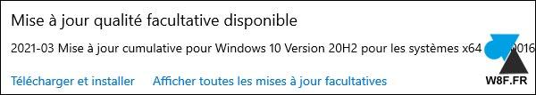 tutoriel Windows Update mise à jour disponible Windows 10