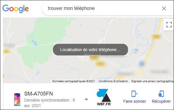 tutoriel localiser appareil google android GPS