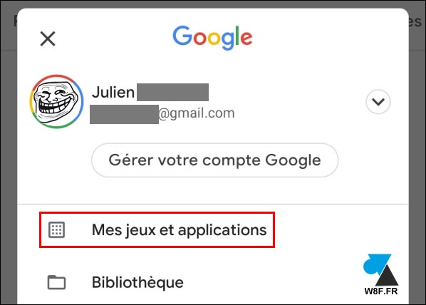 Google Android Play Store jeux et applications