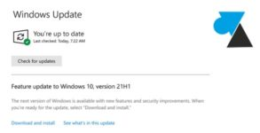 Windows 10 21H1 update