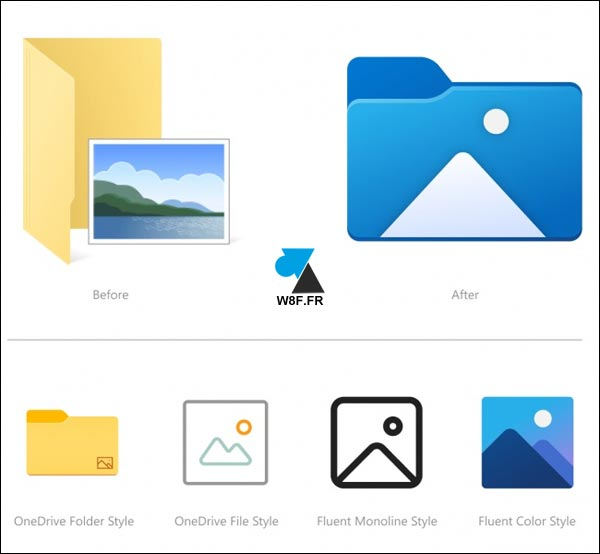 nouvelles icones Explorateur Windows 10 dossiers