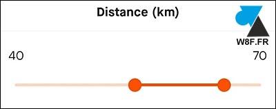 Strava filtre distance