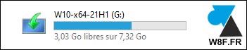 tutoriel clé usb Windows 10 21H1 update