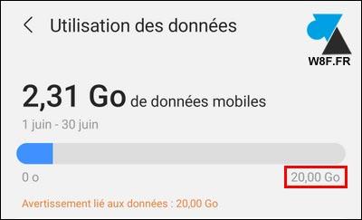tutoriel Samsung Android limite quota données mobiles 4G 3G