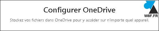 configurer OneDrive se connecter