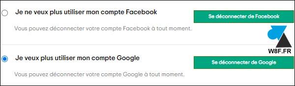 tutoriel déconnecter Google Facebook de Tripadvisor
