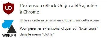 tutoriel installer uBlock Origin sur Google Chrome bloquer pub