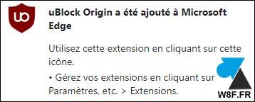 tutoriel installer uBlock Origin sur Microsoft Edge bloquer publicités