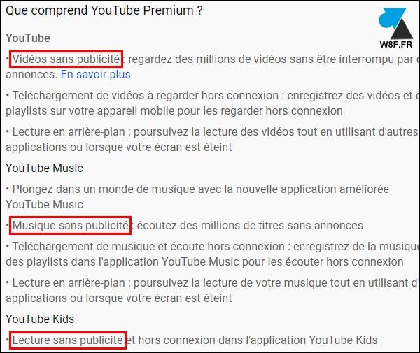 youtube premium sans pub