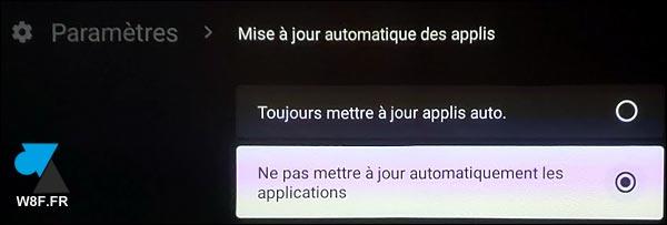 tutoriel Android TV mise à jour application automatique