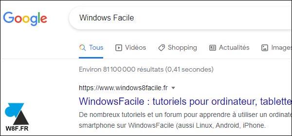 google windows facile