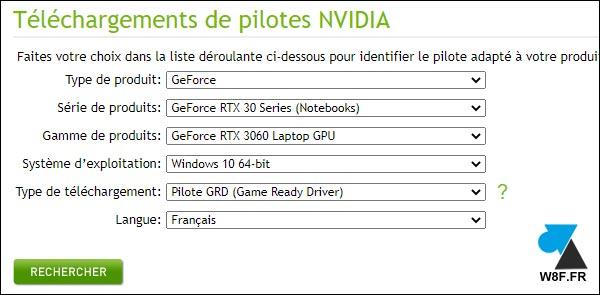 tutoriel telecharger driver video Nvidia GeForce