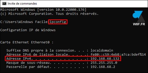 tutoriel Windows 11 adresse IP cmd W11