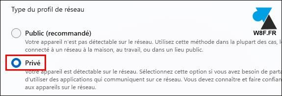 tutoriel Windows 11 paramètres réseau public privé