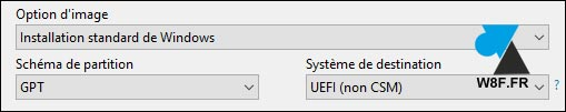 tutoriel Rufus clé usb Windows 10 W10