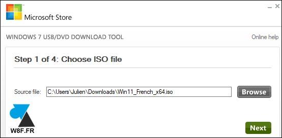 clé USB Windows 11